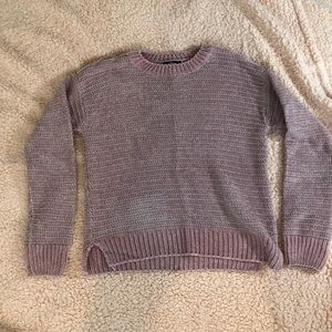 Light pink Fluffy sweater/ tiny bit over sized